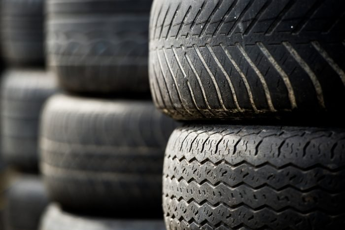 Old car tires. Tires.
