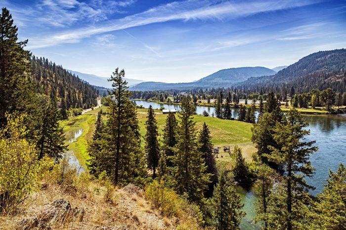Kootenai river near the town of Libby, Montana.
