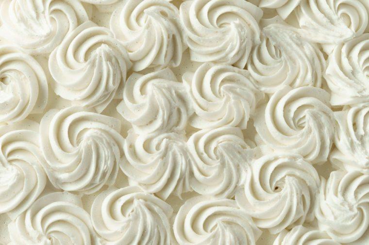 White swirl icing texture