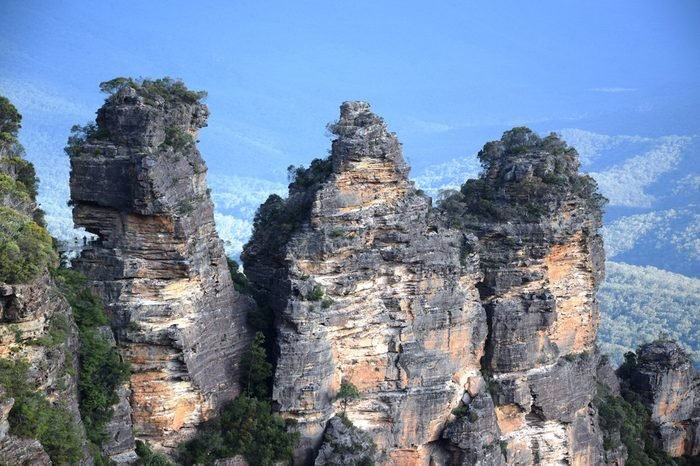 Rocks of The Three Sisters, at Blue Mountains, near Sydney, New South Wales, Australia