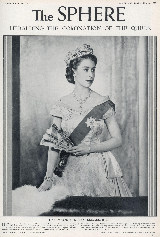 Queen Elizabeth Ii 1953 cover of the sphere