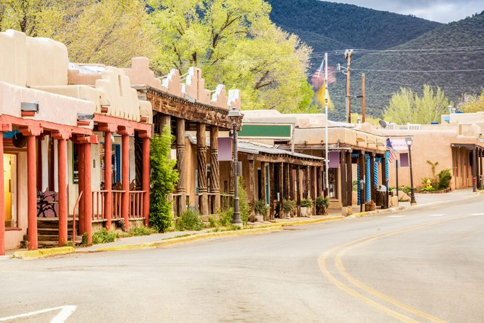 Buildings in Taos, which is the last stop before entering Taos Pueblo, New Mexico
