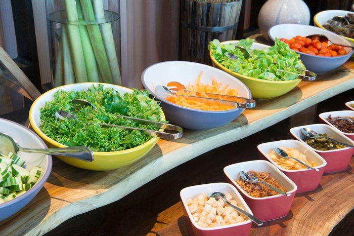Salad bar organic food