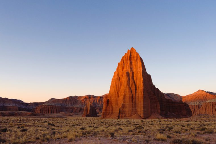 Cathedral Valley in Capitol Reef national park, Utah