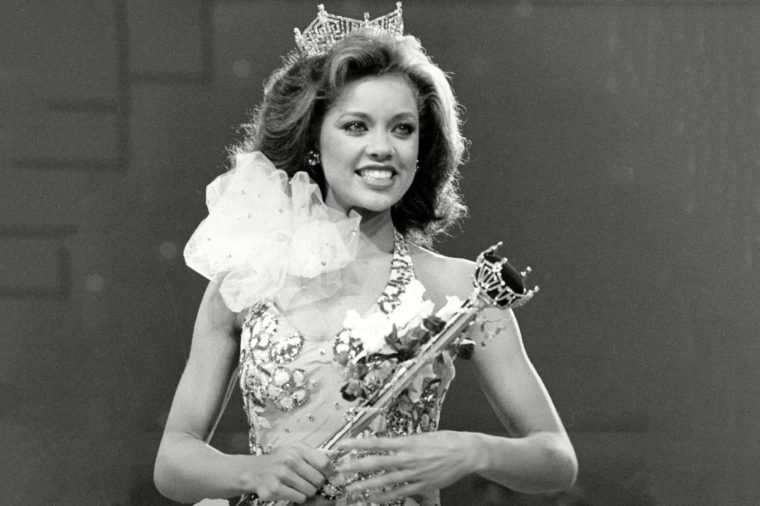 Williams Vanessa Williams, representing New York State, is shown during her coronation walk holding the scepter after she is crowned Miss America 1984 at the Miss America Pageant in Atlantic City, N.J., on . Williams, of Syracuse, is the first African American to win the competition