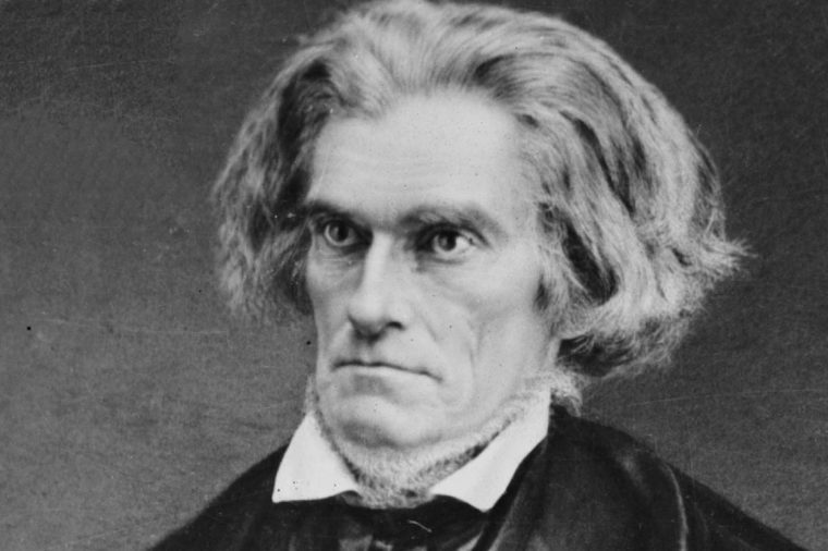 John Caldwell CALHOUN 1782-1850, American politician and first US-born Vice President, serving in the administrations of both John Quincy Adams and Andrew Jackson, photographed c. 1840-50 (Mathew Brady)
