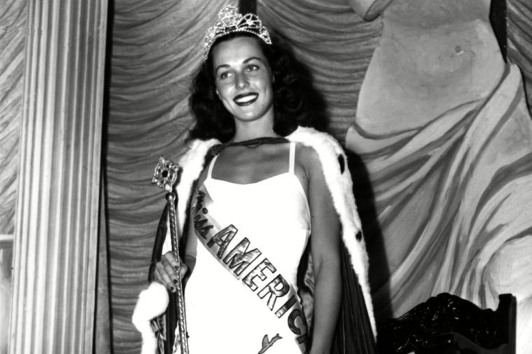 Myerson Bess Myerson, of New York, holds the scepter after being crowned Miss America 1945 at the annual Miss America pageant in Atlantic City, N.J. Myerson, the first Jewish Miss America who parlayed her stunning 1945 victory into national celebrity, died Dec. 14, 2014, at her home in Santa Monica, Calif. She was 90