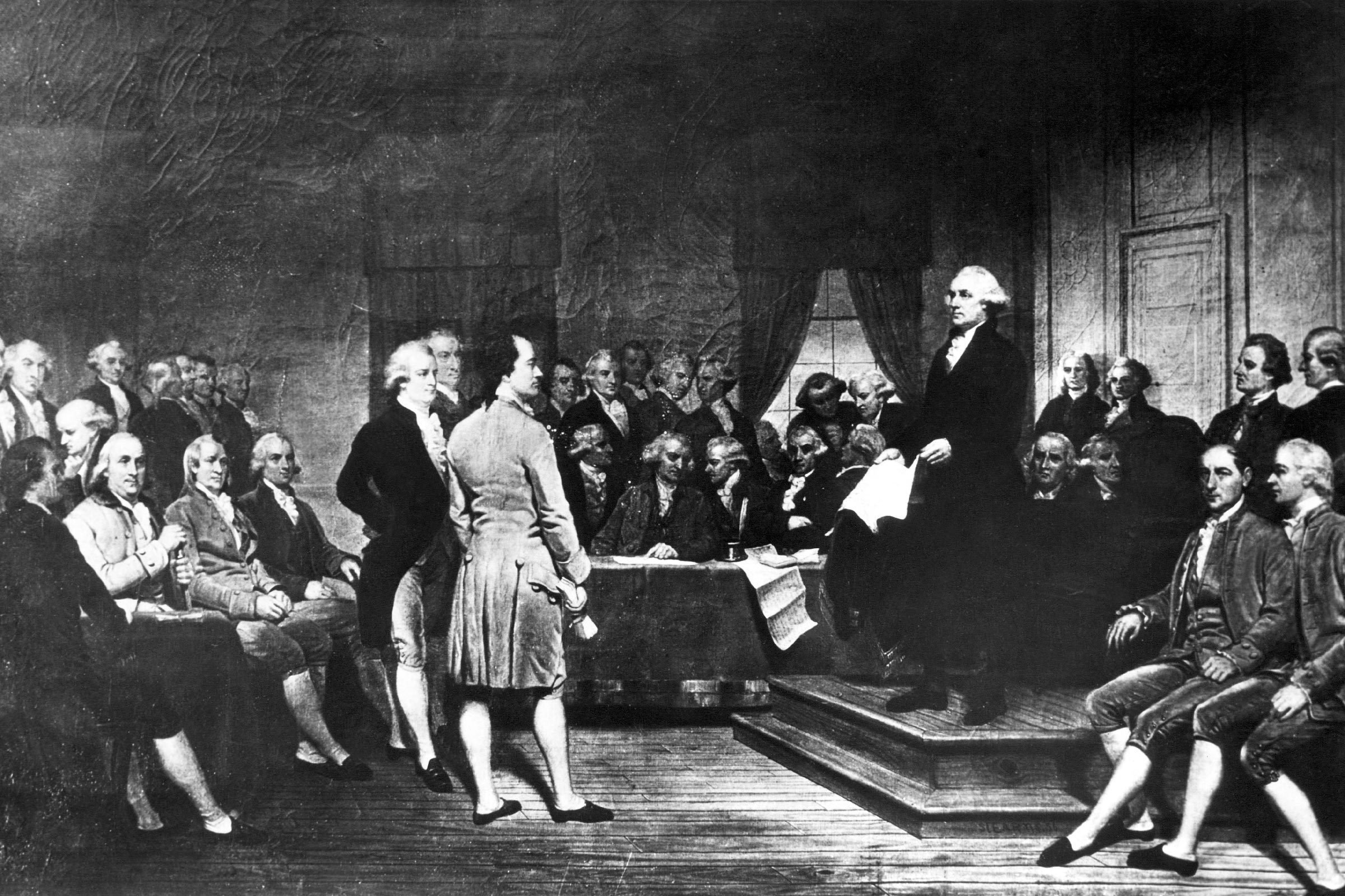 Illustration of Declaration of Independence