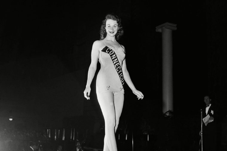 Renee Dianne Roy, Miss Connecticut, appears in bathing suit during preliminary event, of Miss America pageant on at Atlantic City, N.J