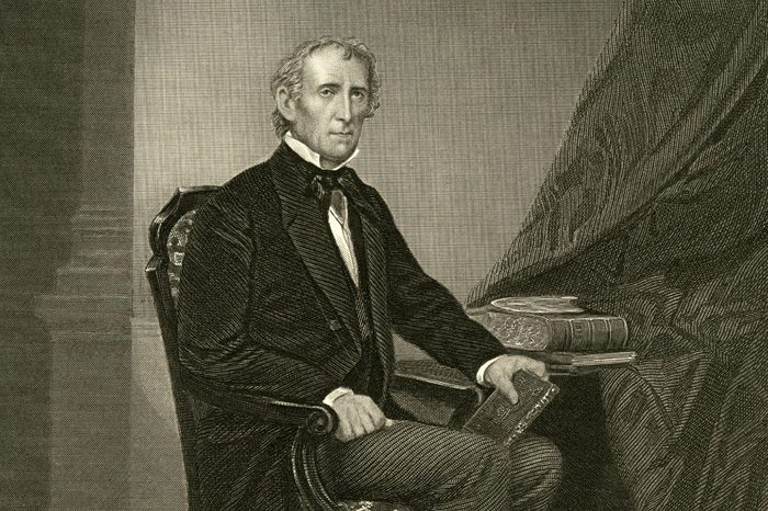 John Tyler (1790-1862) 10th President of the United States (1841-1845) circa 1841