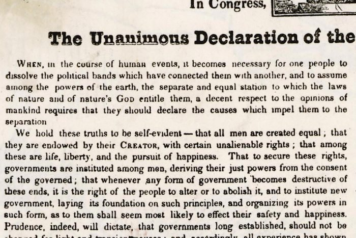 Declaration of Independence Document 1776