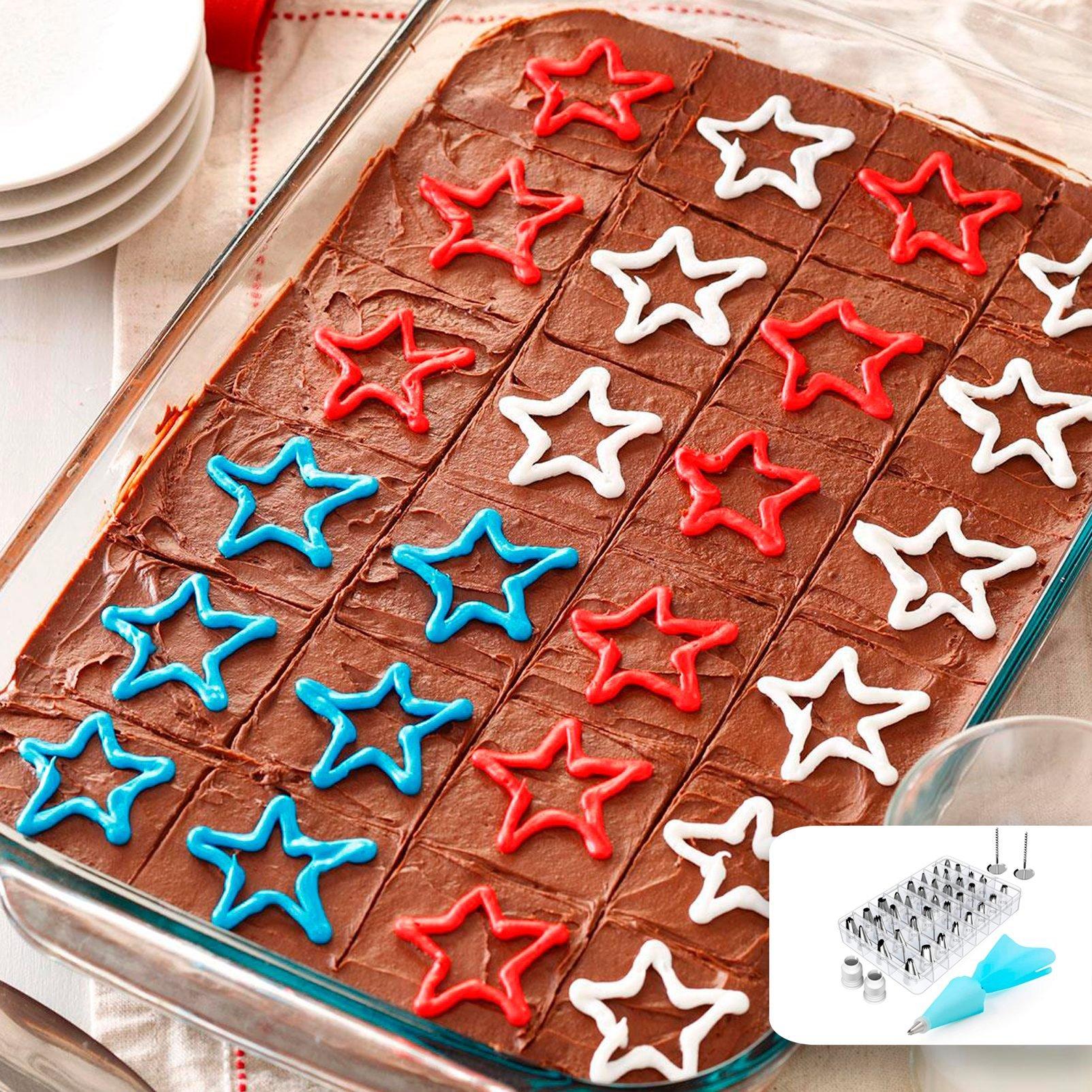 patriotic brownies stars 4th of july desserts Taste of Home