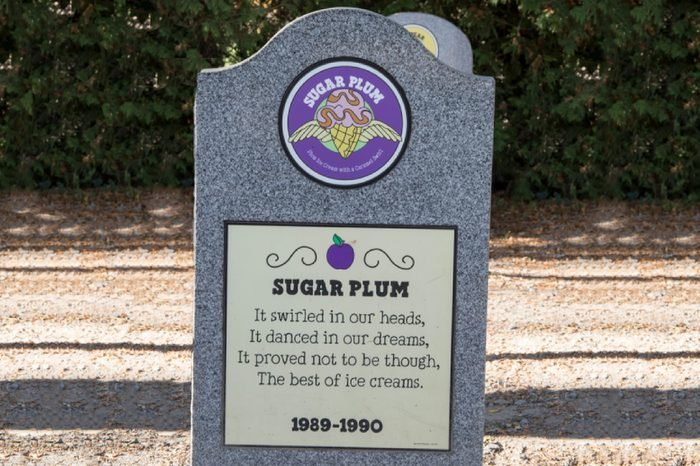 Stowe, Vt - October 18, 2017 : Ben and Jerry's factory cemetery of dead flavors.