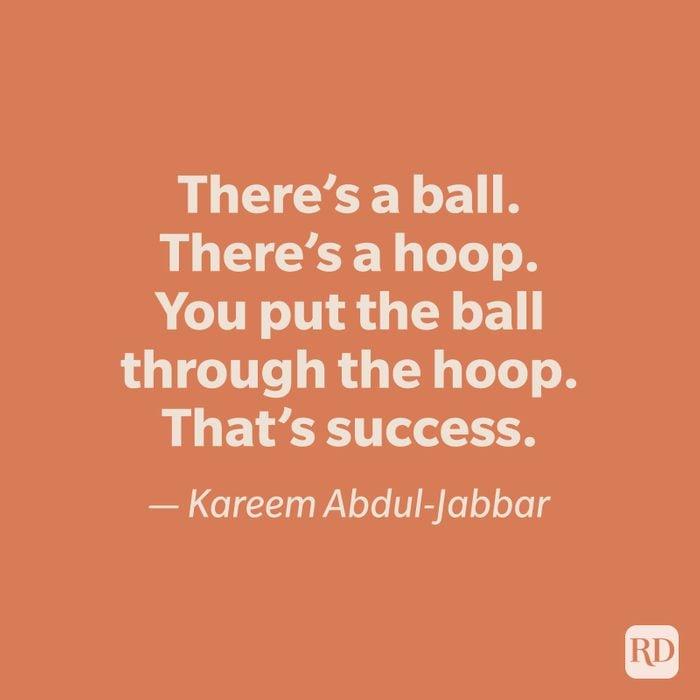 Kareem Abdul Jabbar quote