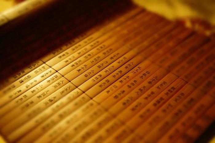 Bamboo book.