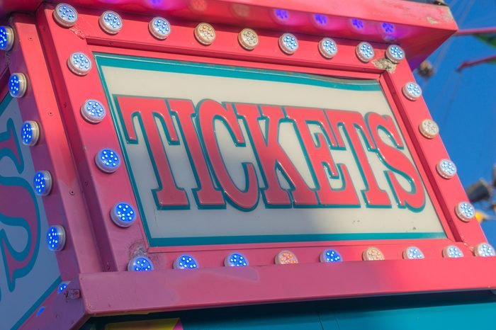 Ticket booth at county fair