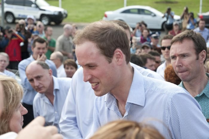 TOOWOOMBA, AUSTRALIA - MARCH 20: Prince William visits the 'Spirit of the Country' flood relief country music concert on March 20, 2011 in Toowoomba, Australia. He greets victims of the Queensland floods.