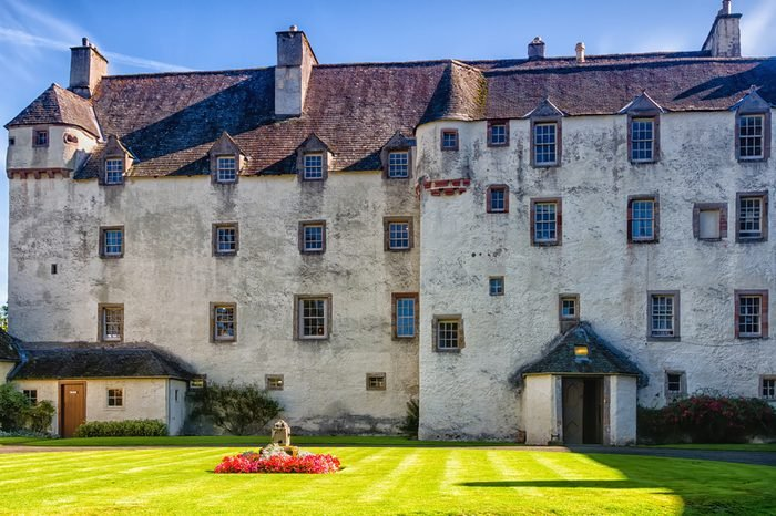 TRAQUAIR, SCOTLAND - AUGUST 23, 2017: Oldest inhabited house in Scotland - Mansion in Traquair, UK.