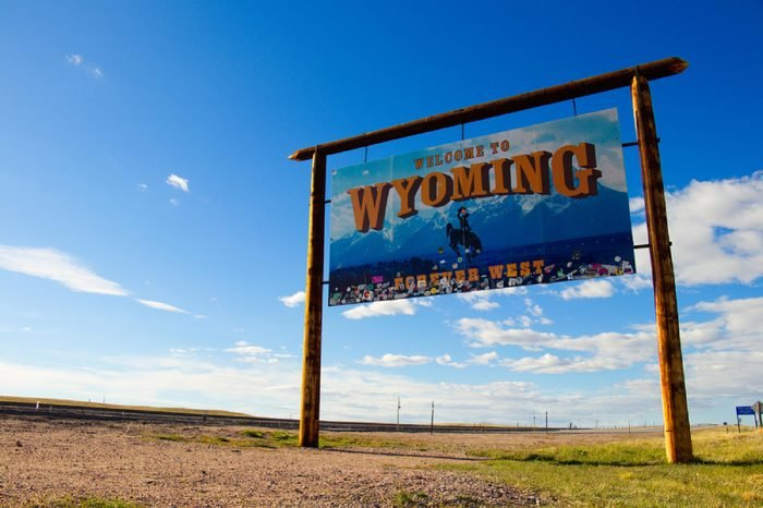 """""""Welcome to Wyoming - Forever West"""" May 1st, 2017 Near Cheyenne, Wyoming, USA"""