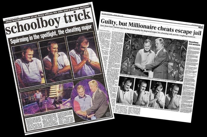 'WHO WANTS TO BE A MILLIONAIRE' TV FRAUD NEWSPAPER HEADLINES - APR 2003