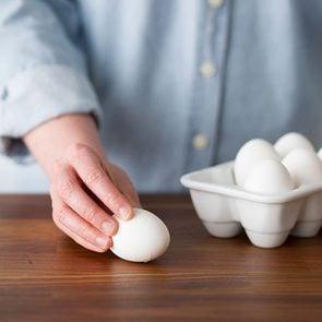 cracking an egg