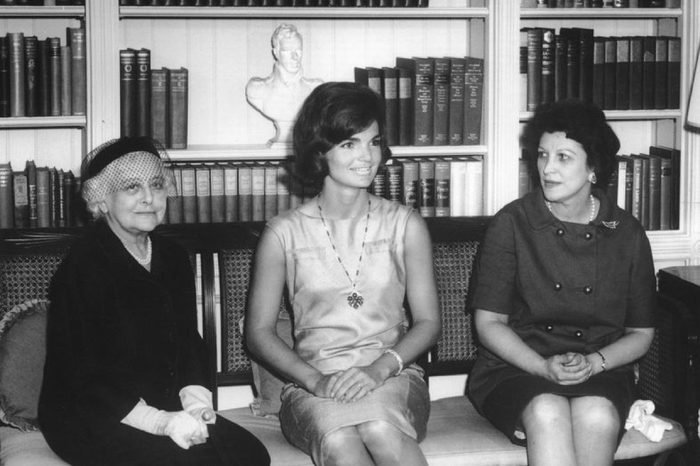 First Lady Jacqueline Kennedy Opens the Newly-refurbished White House Library