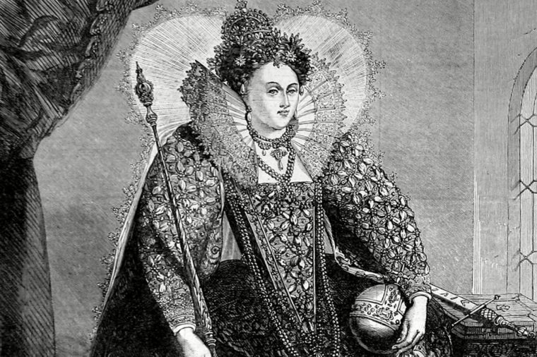 Queen Elizabeth I of England (1533-1603) Attired For the Royal Thanksgiving On the Defeat of the Spanish Armada of 1588 1872