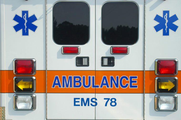Back of ambulance