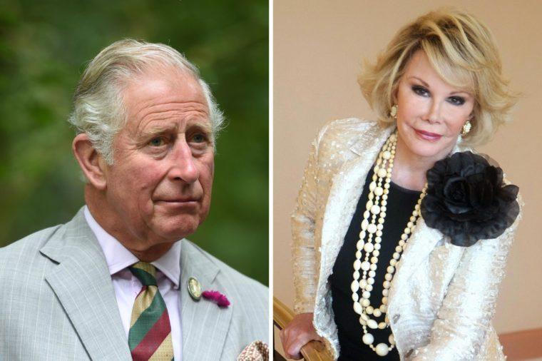 Prince Charles and Joan Rivers