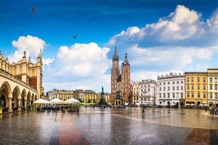 Krakow - Poland's historic center, a city with ancient architecture.