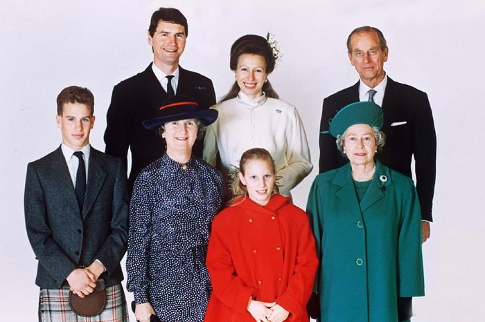 Princess Anne AND Tim Laurence WITH HIS MOTHER, Prince Philip, Peter Phillips, Zara Phillips AND Queen Elizabeth II