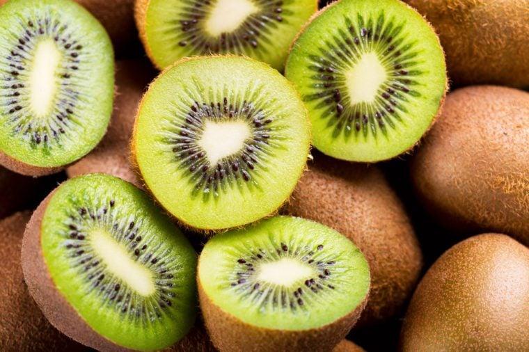 fresh kiwi fruit as background