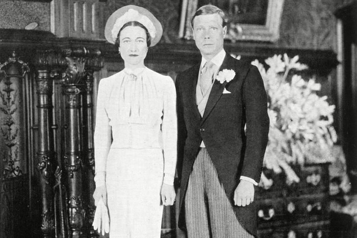 Wedding Day of the Duke of Windsor (formerly King Edward Viii) to Mrs Wallis Simpson On the 3rd June 1937 at the Chateau De Cande Near Tours in France 1937