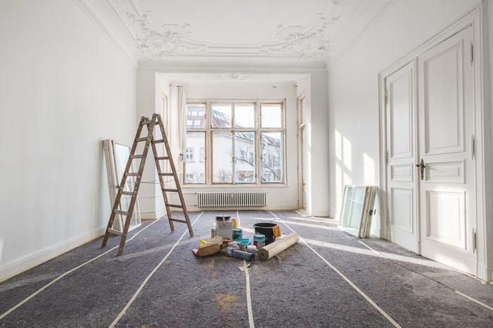 renovation - old flat during restoration / refurbishment