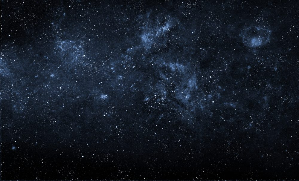 Beautiful night sky. Elements of this image furnished by NASA