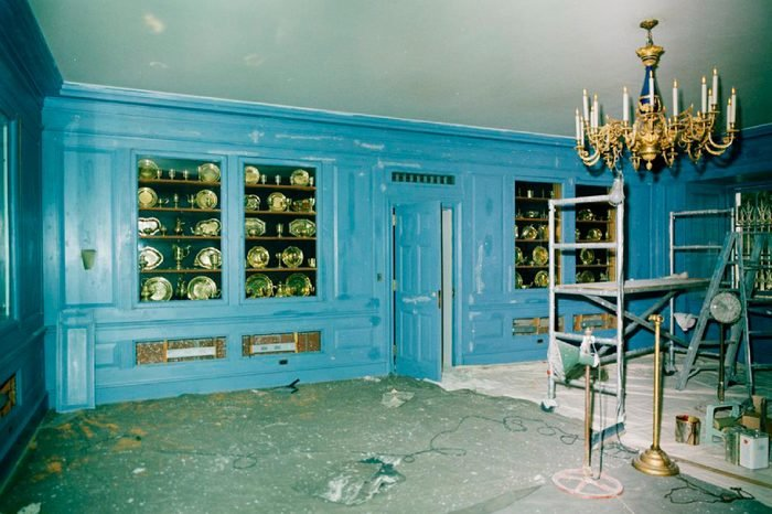 Vermeil Room of the White House During Restorations