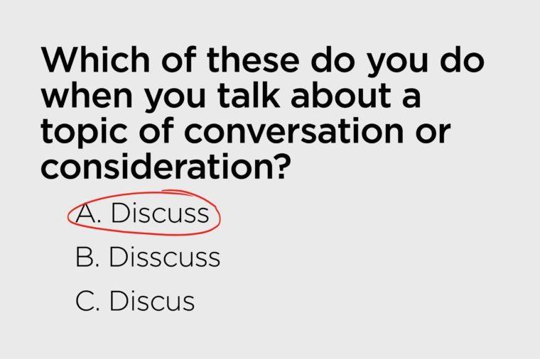 discuss