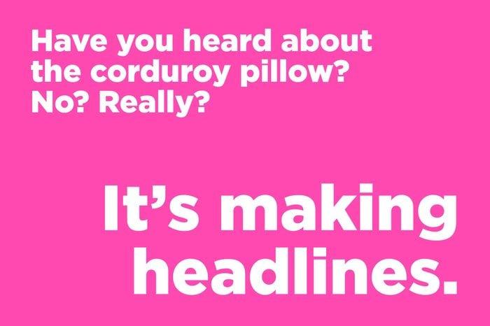 corduroy pillow