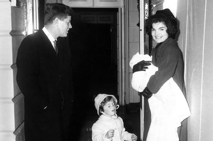 The Kennedys at the White House, 04 February 1961; Washington, D. C., White House, South Entrance