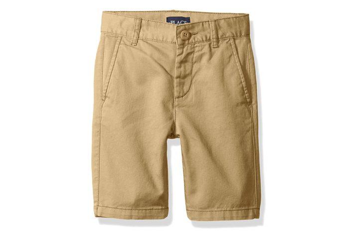 khaki children's shorts