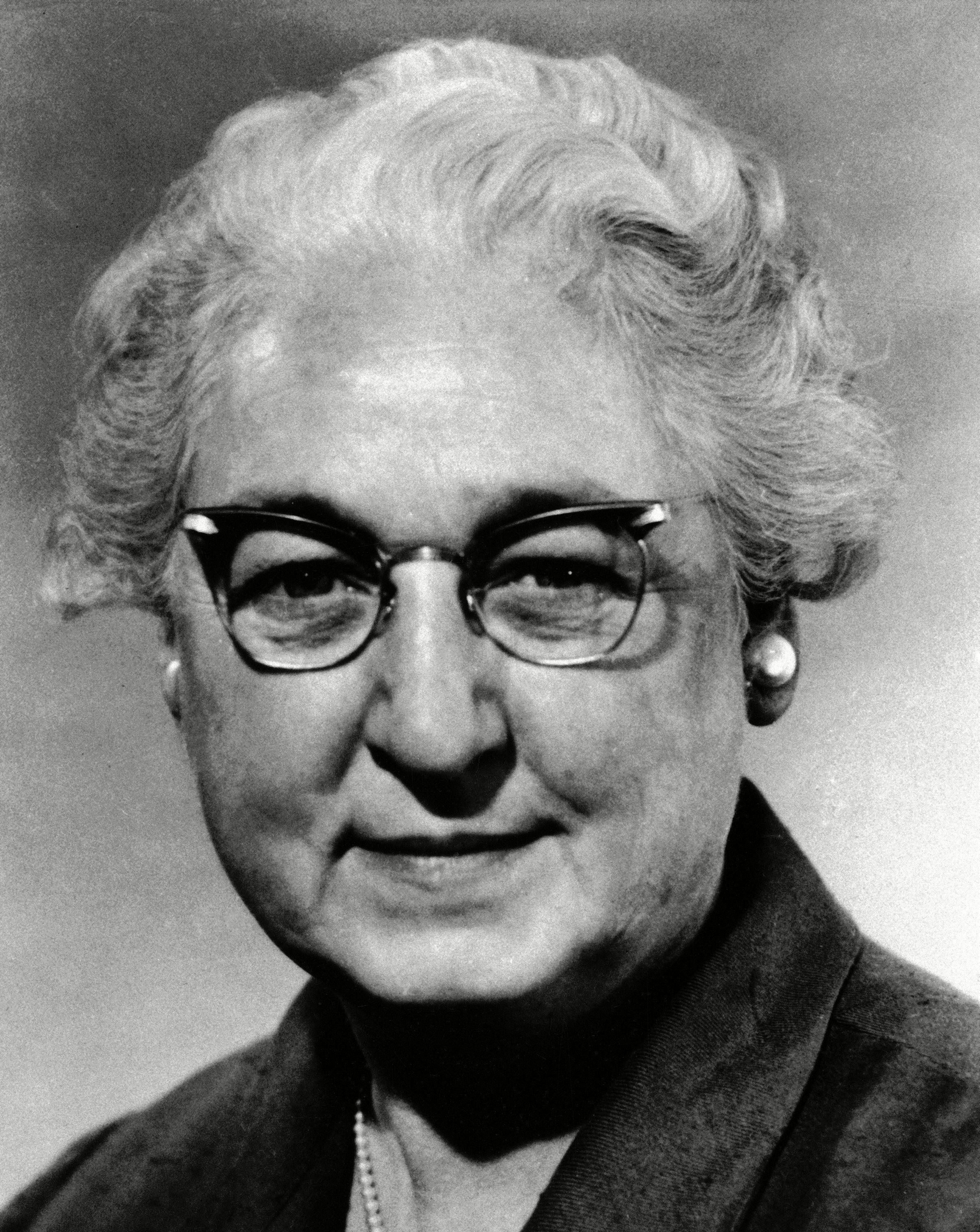 "Dr. Virginia Apgar, distinguished researcher and author of the ""Apgar score"" for newborn infants. Recipient of Doctor of Science from Mount Holyoke College,"