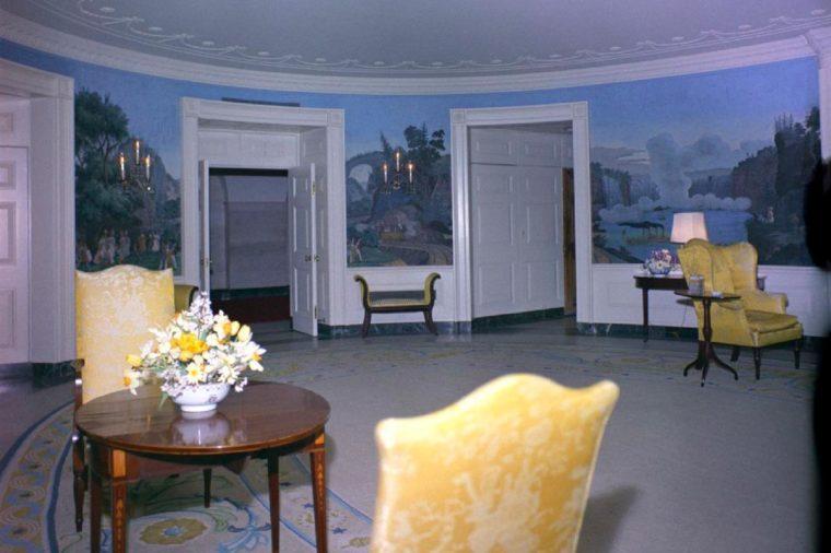Diplomatic Reception Room, Prepared for Congressional Reception