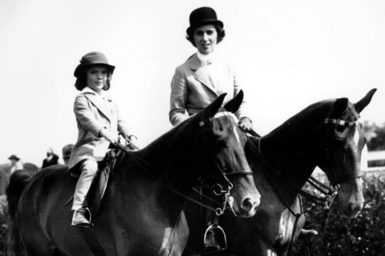 Jacqueline Bouvier and her mother Janet Lee Bouvier