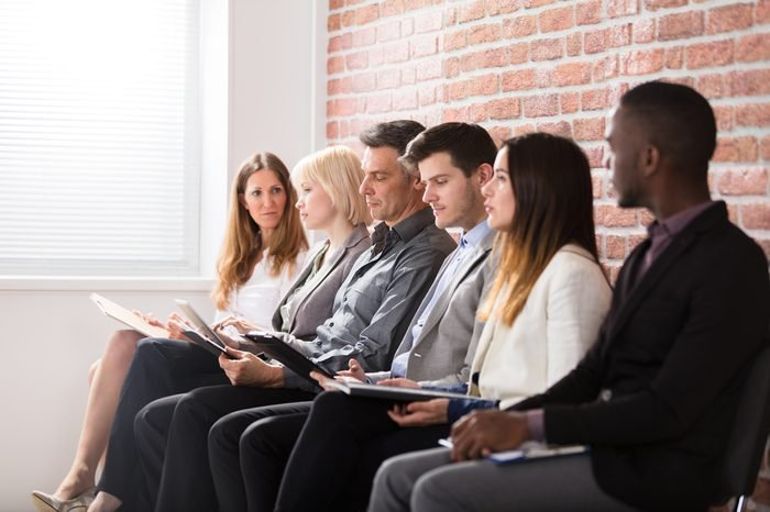 Group Of Diverse People Waiting For Job Interview In Office