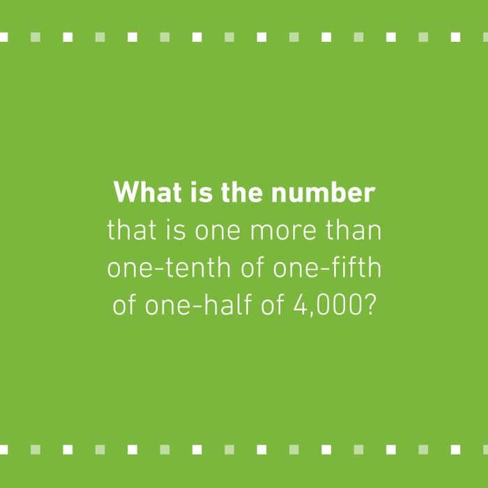 Mensa Question