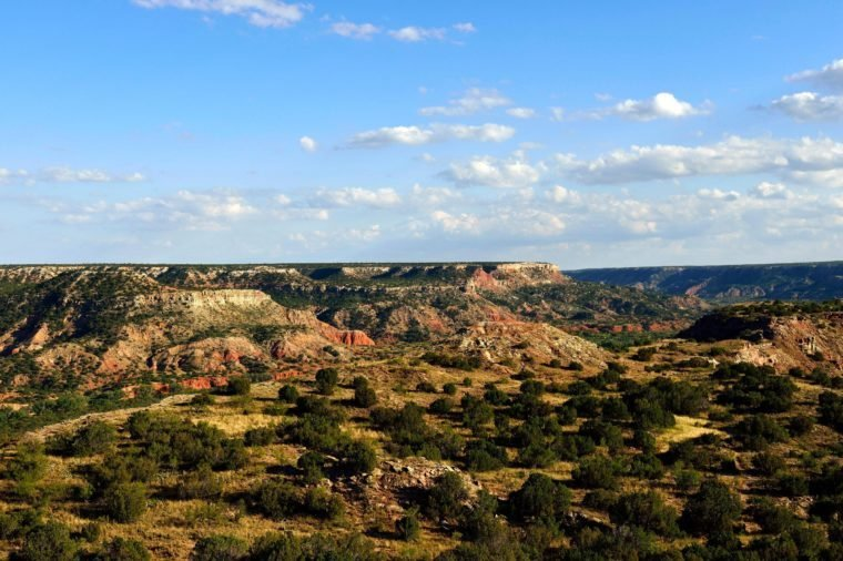 Wide open landscape, Palo Duro Canyon State Park, Texas, USA