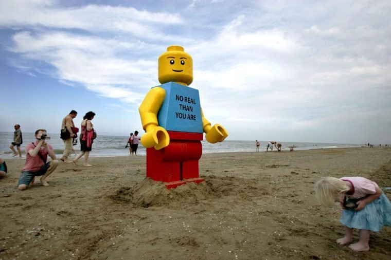 A Huge Lego-doll of About 2 5 Meters Stands at the Beach of Zandvoort the Netherlands 07 August 2007 Owners of a Beachpub Discovered the Toy This Morning Nobody Knows where the Toy Comes From the Danish Legoland Says They Do not Miss the Lego Piece Netherlands Zandvoort