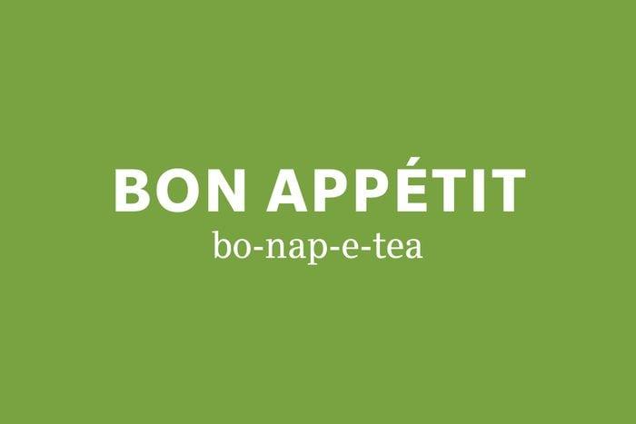 bon appetit pronunciation