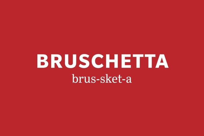 bruschetta pronunciation