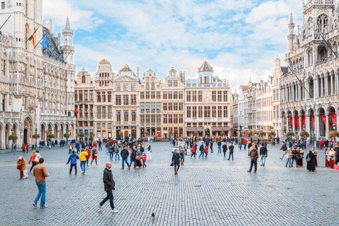 BRUSSELS, BELGIUM - OCTOBER 13, 2016: Grand place, Brussels, Belgium